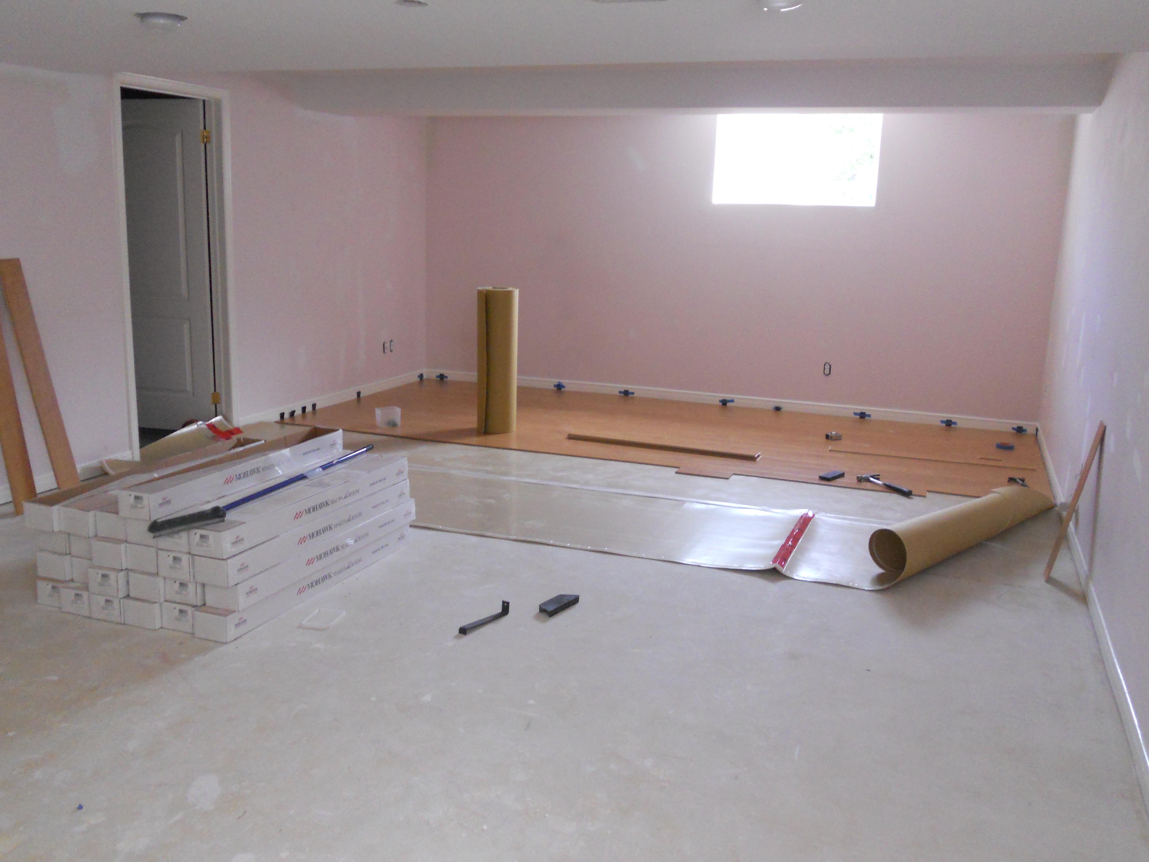 samples home basements painting floor arsenault improvement installation laminate